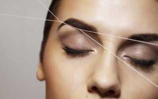 Как сделать форму бровей ниткой
