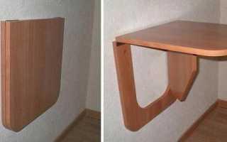 Как сделать складной стол на балконе