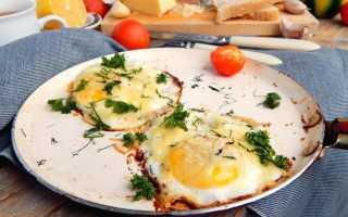 Как сделать яичницу с сыром