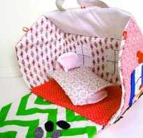 Как сделать сумку домик для кукол