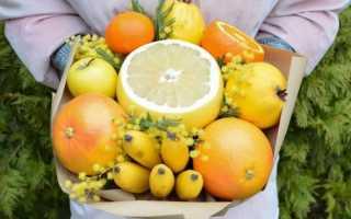 Как сделать цветы из фруктов