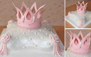 Как сделать корону на торт