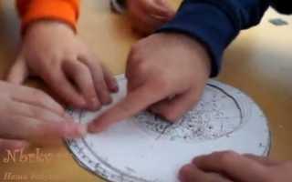 Как сделать подвижную карту звездного неба