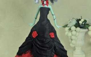 Как сделать платье для куклы монстер хай