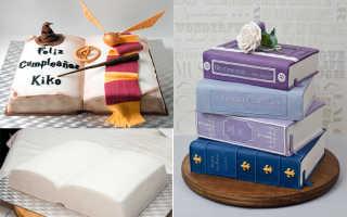 Как сделать торт книгу