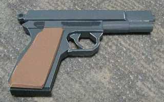 Как сделать пистолет из картона который стреляет