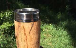 Как сделать кружку из дерева