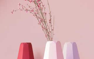 Как сделать из бумаги вазу для цветов