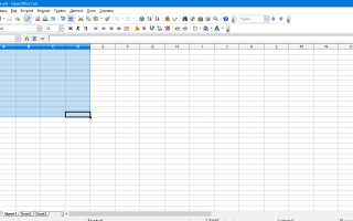 Как сделать таблицу в openoffice