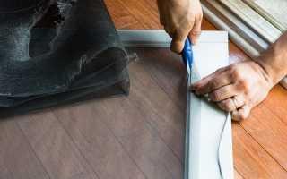 Как сделать сетку на пластиковое окно