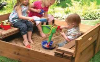 Как сделать песочницу с крышей