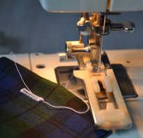 Как сделать петлю на швейной машине