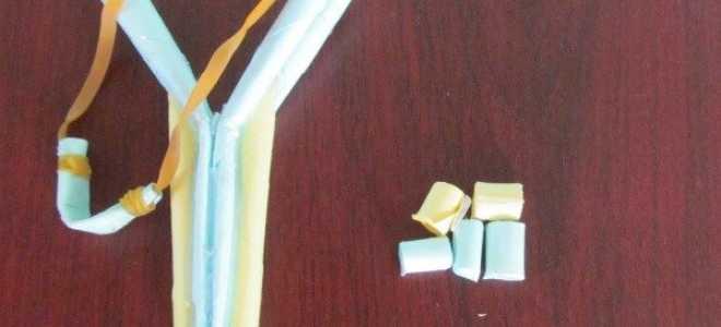 Как сделать рогатку из бумаги