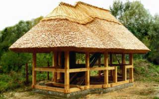 Как сделать крышу из камыша