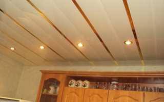 Как сделать пластиковый потолок на кухне видео