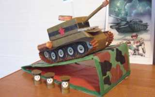 Как сделать танк из картона