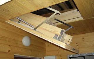 Как сделать люк в потолке на чердак