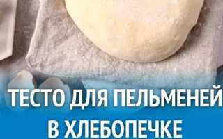 Как сделать тесто для пельменей в хлебопечке