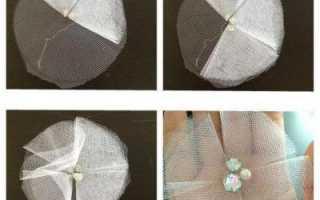 Как сделать цветы из фатина