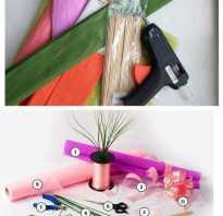 Как сделать цветы из конфет