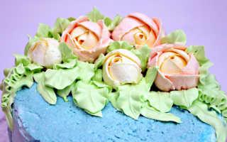 Как сделать розу из крема