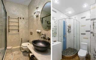 Как оформить узкую ванную комнату:9 советов, 45 примеров
