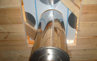 Как сделать разделку печной трубы на потолке