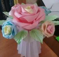 Как сделать розу из бумаги оригами
