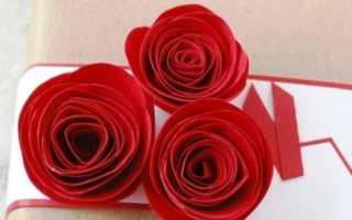 Как сделать розу из бумаги видео