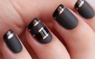 Как сделать полоски на ногтях гель лаком