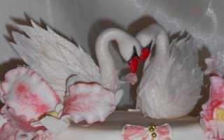 Как сделать лебедей для торта