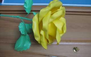 Как сделать розу из изолона мастер класс