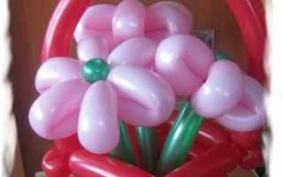 Как сделать корзинку из шариков