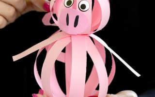 Как сделать свинку из бумаги