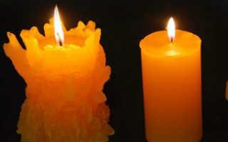 Как сделать форму для свечи