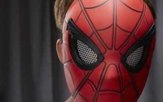 Как сделать маску человека паука из ткани