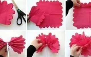 Как сделать цветок из салфеток видео