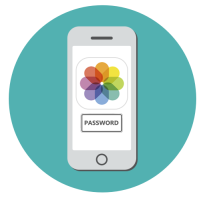 Как сделать пароль на фото на айфоне