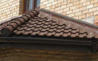 Как сделать примыкание крыши к стене