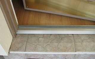 Как сделать порог входной двери в квартире