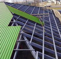 Как сделать крышу из металлопрофиля своими руками