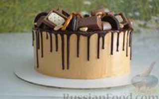 Как сделать торт сникерс