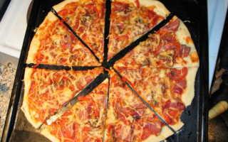 Как сделать пиццу в домашних условиях видео