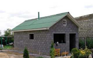 Как сделать крышу для бани из блоков