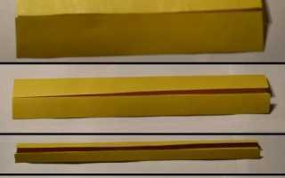 Как сделать катану из бумаги