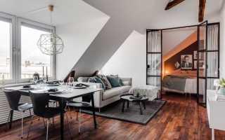 Как оформить квартиру в мансарде: 70 квадратных метров с видом на Стокгольм