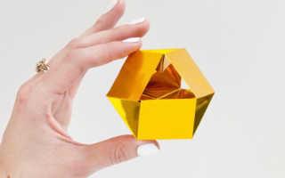 Как сделать кристалл из бумаги схема