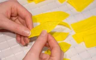 Как сделать подсолнух из гофрированной бумаги