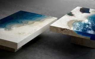 Как сделать стол из слэба с заливкой