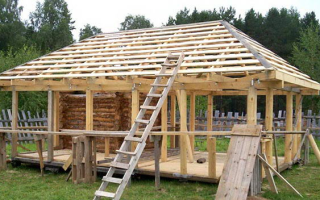 Как сделать четырехскатную крышу для беседки